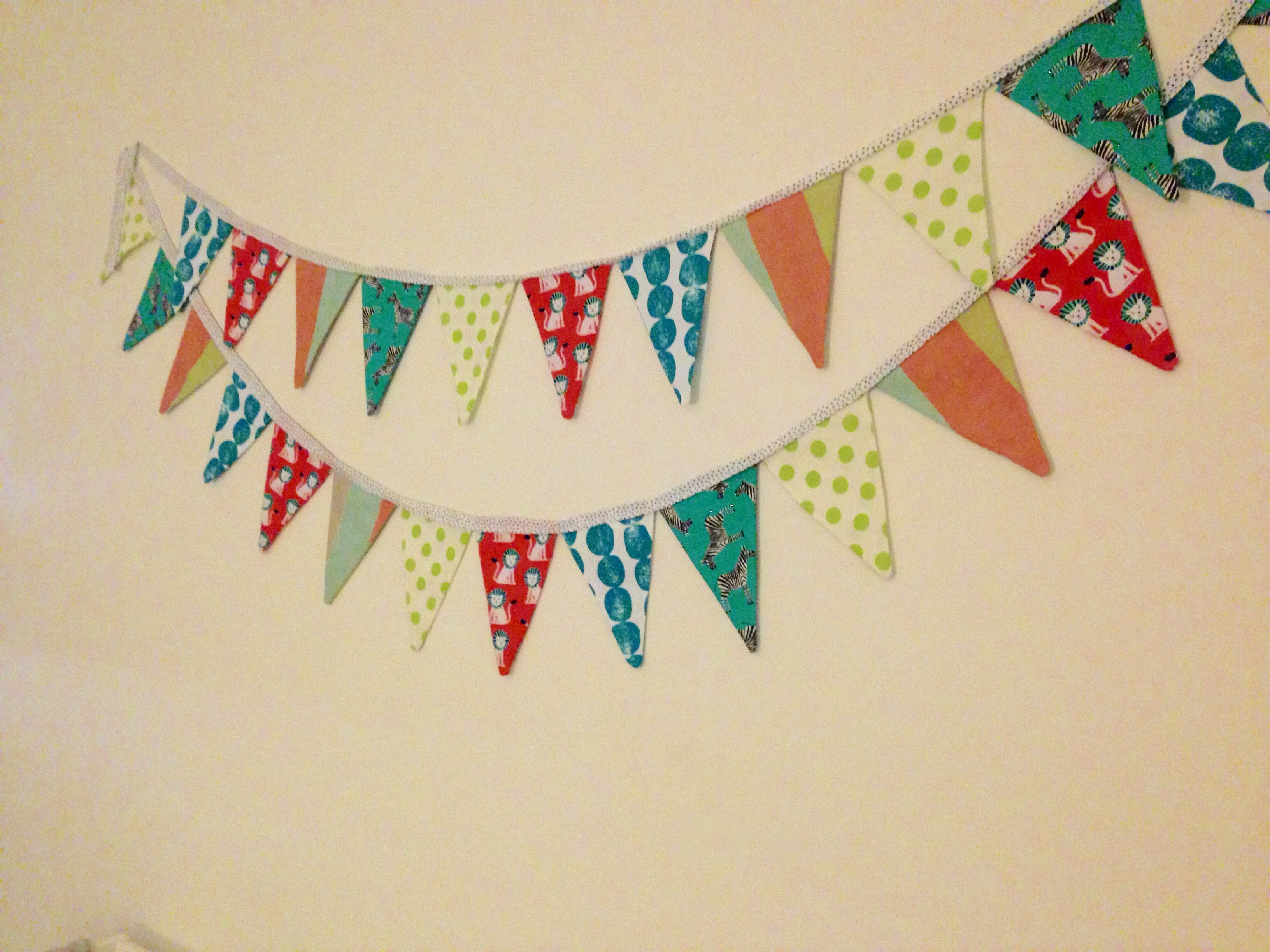 Diy Fabric Pennant Banner Handmade And Homegrown By